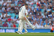 Peter Siddle of Australia doing a keepy up with the ball between overs during the 5th International Test Match 2019 match between England and Australia at the Oval, London, United Kingdom on 14 September 2019.