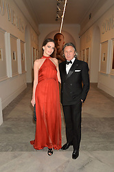 LEON & YANA MAX at the Alexandra Shulman and Leon Max hosted opening of Vogue 100: A Century of Style at The National Portrait Gallery, London on 9th February 2016.