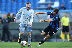 September 14, 2017 - Reggio Emilia, Italy - Wayne Rooney of Everton and Marten De Roon of Atalanta  during the UEFA Europa League Group E football match Atalanta vs Everton at The Stadio Città del Tricolore in Reggio Emilia on September 14, 2017. (Credit Image: © Matteo Ciambelli/NurPhoto via ZUMA Press)