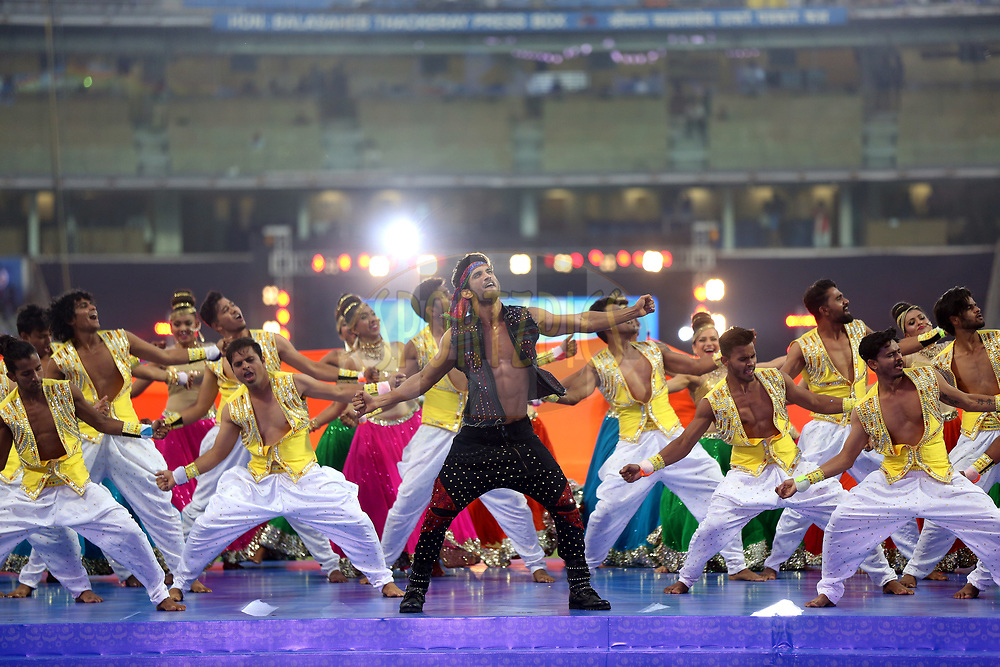 Actor Sushant Singh Rajput Performs before the match 7 of the Vivo 2017 Indian Premier League between the Mumbai Indians and the Kolkata Knight Riders held at the Wankhede Stadium in Mumbai, India on the 9th April 2017<br /> <br /> Photo by Sandeep Shetty - IPL - Sportzpics