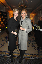 Left to right, SUSAN BOSTER and designer BRITT LINTNER at the Veuve Clicquot Business Woman Award held at The Berkeley Hotel, London on 8th April 2008.<br />