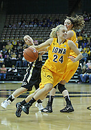 January 28, 2012: Iowa Hawkeyes guard Jaime Printy (24) drives with the ball during the NCAA women's basketball game between the Purdue Boilermakers and the Iowa Hawkeyes at Carver-Hawkeye Arena in Iowa City, Iowa on Saturday, January 28, 2012.