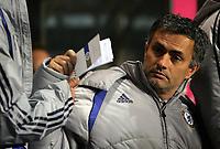 Photo: Paul Thomas.<br /> Aston Villa v Chelsea. The Barclays Premiership. 02/01/2007.<br /> <br /> Jose Mourinho, Chelsea manager.