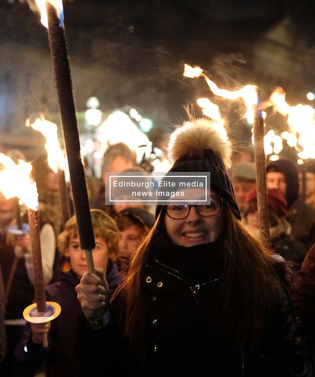 EDINBURGH'S HOGMANAY TORCHLIGHT PROCESSION, Friday 30th December 2016<br /> <br /> Vikings lead the torchlight procession to Calton Hill, Edinburgh<br /> <br /> (c) Alex Todd | Edinburgh Elite media