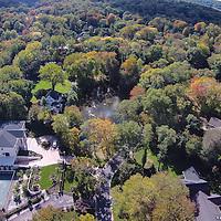 Roslyn Harbor Pond aerial