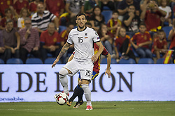 October 6, 2017 - Alicante, Spain - Hysen Memolla during the qualifying match for the World Cup Russia 2018 between Spain and Albaniaat the Jose Rico Perez stadium in Alicante, Spain on October 6, 2017. (Credit Image: © Jose Breton/NurPhoto via ZUMA Press)