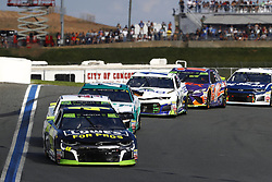 September 30, 2018 - Concord, North Carolina, United States of America - Jimmie Johnson (48) races during the Bank of America ROVAL 400 at Charlotte Motor Speedway in Concord, North Carolina. (Credit Image: © Chris Owens Asp Inc/ASP via ZUMA Wire)