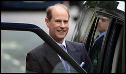 Prince Edward Leaves The London Clinic after visiting his father the Duke of Edinburgh in hospital at The London Clinic in London, Monday, 10th June 2013<br /> Picture by Andrew Parsons / i-Images