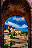 &quot;Ancient arched facade near Santa Chiara in Assisi&quot; ...<br />