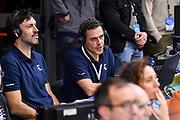 Andrea Meneghin, Andrea Solaini<br /> Banco di Sardegna Dinamo Sassari - Segafredo Virtus Bologna<br /> Legabasket LBA Serie A 2019-2020<br /> Sassari, 22/12/2019<br /> Foto L.Canu / Ciamillo-Castoria