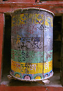Prayer wheel - temple - Ladakh 2006