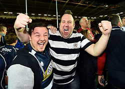Bristol Rugby fans celebrate  after the game - Mandatory byline: Joe Meredith/JMP - 25/05/2016 - RUGBY UNION - Ashton Gate Stadium - Bristol, England - Bristol Rugby v Doncaster Knights - Greene King IPA Championship Play Off FINAL 2nd Leg.