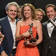 NLD/Utrecht/20181005 - L'OR Gouden Kalveren Gala 2018, Maria Kraakman en Jacob Derwig winnen een Gouden Kalf