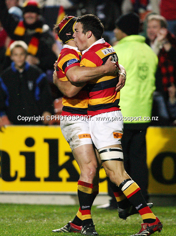 Waikato's Richard Kahui celebrates his try during the Air New Zealand Cup week 3 rugby union match between Waikato and Canterbury at Waikato Stadium in Hamilton, New Zealand on Friday 11 August 2006. Waikato won the match 36 - 22. Photo: Kevin Booth/PHOTOSPORT<br /><br /><br />110806