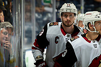 KELOWNA, BC - SEPTEMBER 29:  Oliver Ekman-Larsson #23 of the Arizona Coyotes skates to the bench after warm up against the Vancouver Canucks at Prospera Place on September 29, 2018 in Kelowna, Canada. (Photo by Marissa Baecker/NHLI via Getty Images)  *** Local Caption *** Oliver Ekman-Larsson;