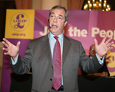 NOV 13 2014 Nigel Farage and Mark Reckless address a meeting in Rochester