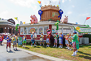 """Indiana State Fair The """"Sidewalk Stompers"""" clown band"""