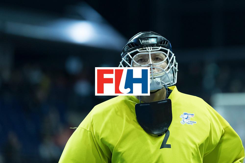 Hockey, Seizoen 2017-2018, 09-02-2018, Berlijn,  Max-Schmelling Halle, WK Zaalhockey 2018 MEN, Iran - Czech Republic 2-2 Iran Wins after shoutouts, Pavel Hraba (GK) .