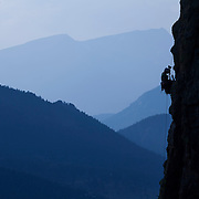 climbing to our portaledge camp 200 meters up a cliff in Estes Park, Colorado. With Jonathan Thompson and climbing instructor Brett Bloxom