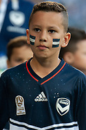 Victory fans prior to kick off at the Hyundai A-League Round 4 soccer match between Melbourne Victory and Central Coast Mariners at AAMI Park in Melbourne.