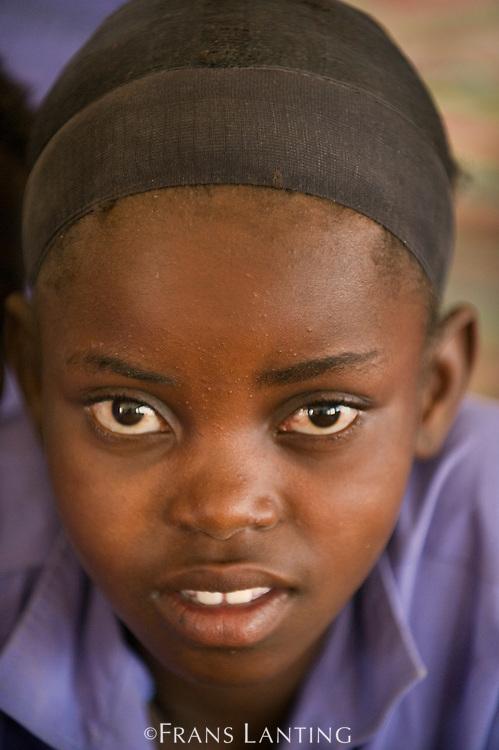 Student inside school, Puros Village, Puros Conservancy, Damaraland, Namibia