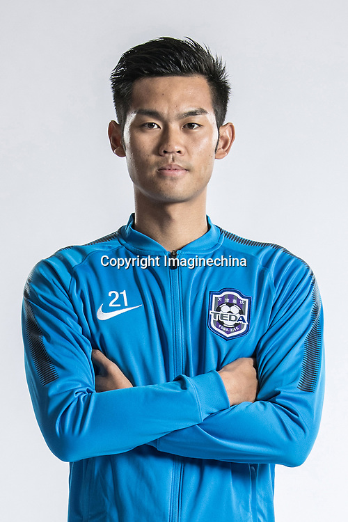**EXCLUSIVE**Portrait of Chinese soccer player Zhao Yingjie of Tianjin TEDA F.C. for the 2018 Chinese Football Association Super League, in Tianjin, China, 28 February 2018.