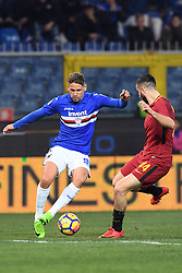 24.01.2018, Stadio Luigi Ferraris, Genua, ITA, Serie A, Sampdoria Genua vs AS Roma, 3. Runde, im Bild gaston ramirez // gaston ramirez during the Italian Serie A 3th round match between Sampdoria Genua and AS Roma at the Stadio Luigi Ferraris in Genua, Italy on 2018/01/24. EXPA Pictures © 2018, PhotoCredit: EXPA/ laPresse/ Tano Pecoraro<br /> <br /> *****ATTENTION - for AUT, SUI, CRO, SLO only*****