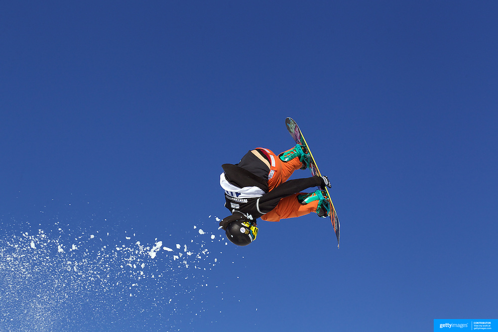 Morten Kleivdal, Norway, in action during the Snowboard Slopestyle Men's competition at Snow Park, New Zealand during the Winter Games. Wanaka, New Zealand, 21st August 2011. Photo Tim Clayton