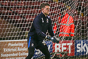 AFC Wimbledon goalkeeper Joe McDonnell (24)  during the EFL Sky Bet League 1 match between Scunthorpe United and AFC Wimbledon at Glanford Park, Scunthorpe, England on 28 February 2017. Photo by Simon Davies.