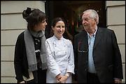 HELENA RIZZO; ELENA ARZAK; JUAN MARI ARZAK, Veuve Clicquot World's Best Female chef champagne tea party. Halkin Hotel. Halkin St. London SW1. 28 April 2014.