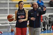 Marzia Tagliamento, Andrea Capobianco<br /> Raduno Nazionale Italiana Femminile Senior - Allenamento<br /> FIP 2017<br /> Montegrotto Terme, 27/02/2017<br /> Foto Ciamillo - Castoria