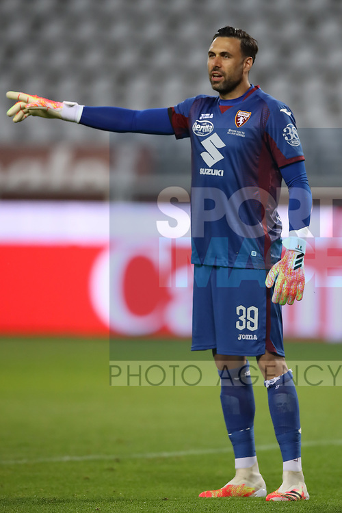 Torino FC's Italian goalkeeper Salvatore Sirigu reacts during the Serie A match at Stadio Grande Torino, Turin. Picture date: 20th June 2020. Picture credit should read: Jonathan Moscrop/Sportimage