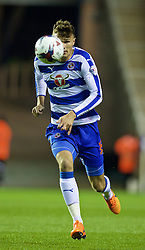 READING, ENGLAND - Tuesday, September 22, 2015: Reading's Jake Cooper in action against Everton during the Football League Cup 3rd Round match at the Madejski Stadium. (Pic by David Rawcliffe/Propaganda)