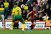 Ryan Fraser (24) of AFC Bournemouth crosses the ball during the Premier League match between Bournemouth and Norwich City at the Vitality Stadium, Bournemouth, England on 19 October 2019.
