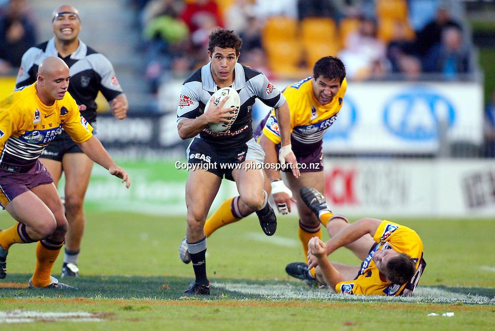 24 August 2003. NRL Round 24. Ericsson Stadium, Auckland, New Zealand. New Zealand Warriors v Brisbane Broncos.<br />Brent Webb.<br />The Warriors won the match, 22 -14.<br />Pic: Andrew Cornaga/Photosport