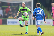 Forest Green Rovers Carl Winchester(7) controls the ball during the EFL Sky Bet League 2 match between Forest Green Rovers and Macclesfield Town at the New Lawn, Forest Green, United Kingdom on 13 April 2019.