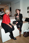 ANNE ASHLEY; LADY LISA CAMPBELL, The Way We Wore.- Photographs of parties in the 70's by Nick Ashley. Sladmore Contemporary. Bruton Place. London. 13 January 2010. *** Local Caption *** -DO NOT ARCHIVE-© Copyright Photograph by Dafydd Jones. 248 Clapham Rd. London SW9 0PZ. Tel 0207 820 0771. www.dafjones.com.<br /> ANNE ASHLEY; LADY LISA CAMPBELL, The Way We Wore.- Photographs of parties in the 70's by Nick Ashley. Sladmore Contemporary. Bruton Place. London. 13 January 2010.