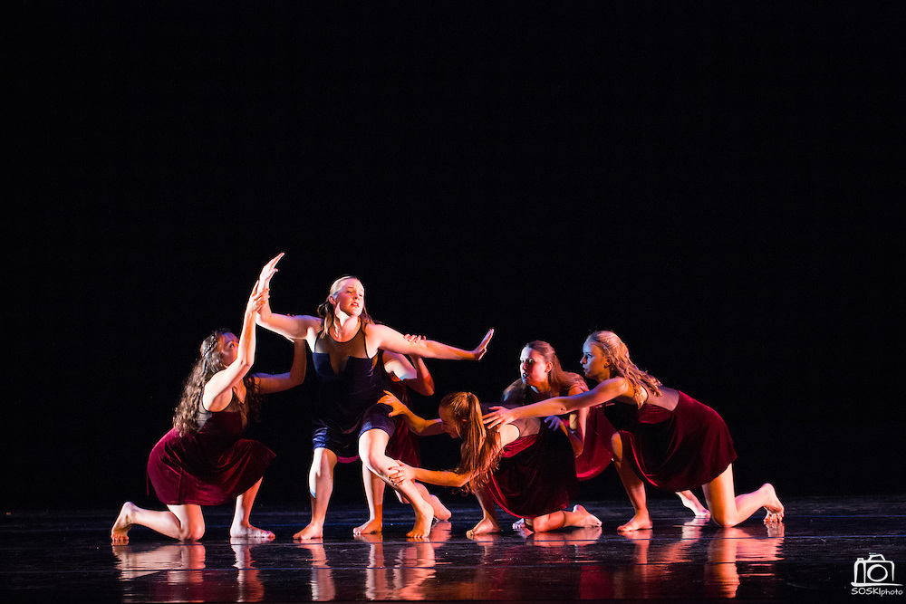 Santa Clara University's Department of Theatre & Dance performs the Choreographers' Gallery during a dress rehearsal at Santa Clara University's Louis B. Mayer Theatre in Santa Clara, California, on December 3, 2014. (Stan Olszewski/SOSKIphoto)