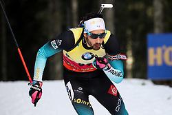 Martin Fourcade (FRA) in action the Men 20km Individual at day 5 of IBU Biathlon World Cup 2018/19 Pokljuka, on December 6, 2018 in Rudno polje, Pokljuka, Pokljuka, Slovenia. Photo by Morgan Kristan / Sportida