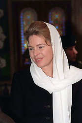 Queen Noor of Jordan receives condolences after King Hussein's funeral at the Royal palace in Amman, Jordan on February 9, 1999. Twenty years ago, end of January and early February 1999, the Kingdom of Jordan witnessed a change of power as the late King Hussein came back from the United States of America to change his Crown Prince, only two weeks before he passed away. Photo by Balkis Press/ABACAPRESS.COM