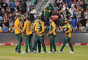 David Miller of South Africa celebrates catching Peter Nevill of Australia out during the 2016 T20 International Series match between South Africa and Australia in Kingsmead Stadium Durban, Kwa-Zulu Natal on 04 March 2016©Muzi Ntombela/Backpagepix
