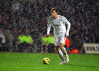 Saturday, 03 November 2012..Pictured: Michu of Swansea in hail storm..Re: Barclays Premier League, Swansea City FC v Chelsea at the Liberty Stadium, south Wales.