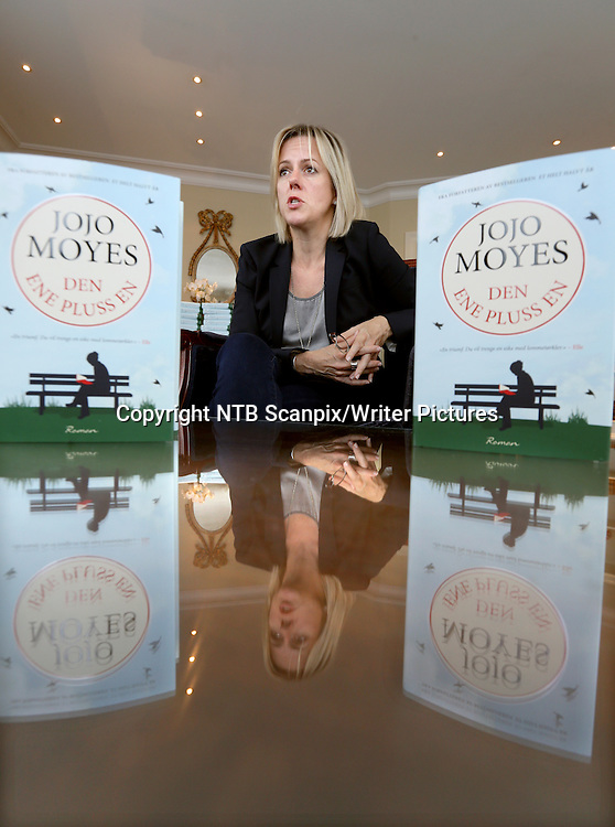 Oslo  20140911.<br /> Jojo Moyes med ny bok. &quot;Den ene pluss en&quot; <br /> Foto: Vidar Ruud / NTB scanpix<br /> <br /> NTB Scanpix/Writer Pictures<br /> <br /> WORLD RIGHTS, DIRECT SALES ONLY, NO AGENCY
