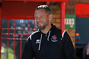 Jay Spearing of Blackpool arriving at the Wham Stadium during the EFL Sky Bet League 1 match between Accrington Stanley and Blackpool at the Fraser Eagle Stadium, Accrington, England on 21 September 2019.