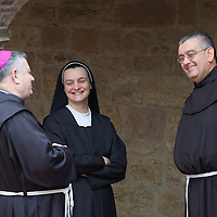 ASSISI, ITALY - OCTOBER 04: Friars and nuns of S Damiano wait for the arrival of Pope Francis on October 4, 2013 in Assisi, Italy.  (Photo by Marco Secchi/Getty Images)