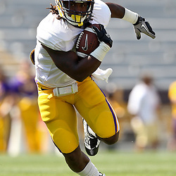 April 9, 2011; Baton Rouge, LA, USA;  LSU Tigers running back Spencer Ware (11) during the 2011 Spring Game at Tiger Stadium.   Mandatory Credit: Derick E. Hingle