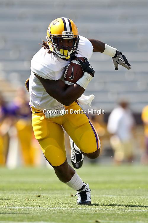 April 9, 2011; Baton Rouge, LA, USA;  LSU Tigers running back Spencer Ware (11) during the 2011 Spring Game at Tiger Stadium.   Mandatory Credit: Derick E. Hingle