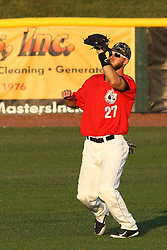 14 August 2015: Mark Micowski during a Frontier League Baseball game between the Washington Wild Things and the Normal CornBelters at Corn Crib Stadium on the campus of Heartland Community College in Normal Illinois