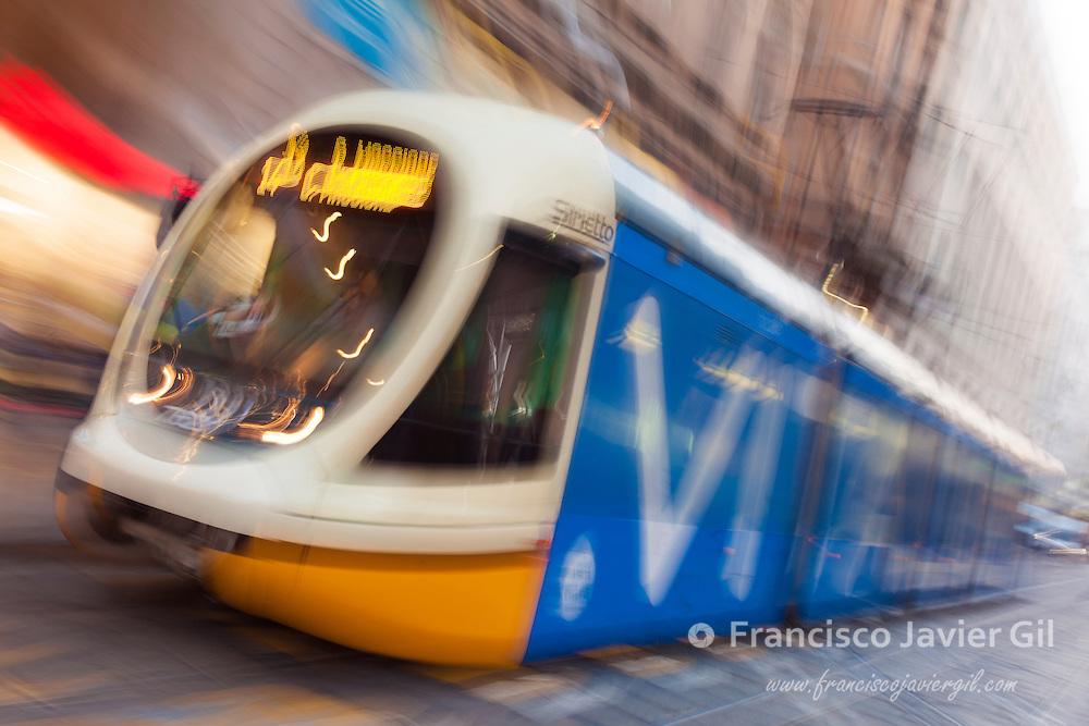 Streetcar of Milan, Lombardy, Italy