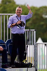 LIVERPOOL, ENGLAND - Friday, June 16, 2017: Liverpool Echo photographer Jason Roberts during Day Two of the Liverpool Hope University International Tennis Tournament 2017 at the Liverpool Cricket Club. (Pic by David Rawcliffe/Propaganda)